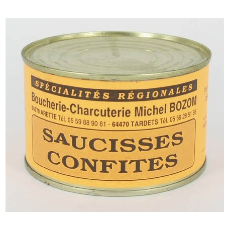 saucisses confites 350 grammes