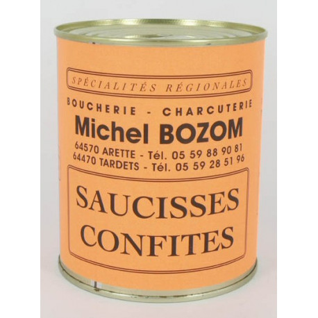 saucisses confites 900 grammes