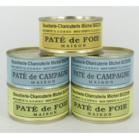 Lot de 5 conserves de pâtés